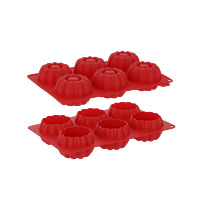 6 MOULES SILICONE ROSES 3D